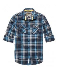 Superdry men s classic twill Lumberjack  shirt in classic plaid fabric 2841a633ad