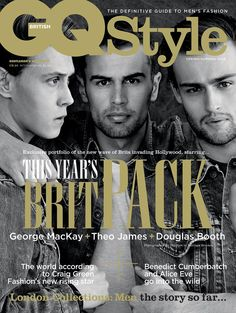 Hollywood News: Douglas Booth, Theo James & George MacKay cover GQ Style Gq Style, Gq Mens Style, George Mackay, Douglas Booth, Double Denim, Theo James, Gq Magazine Covers, Wallpaper Aesthetic, The New Wave