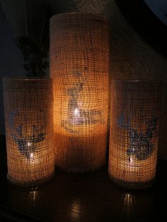 Burlap Candle Sleeves
