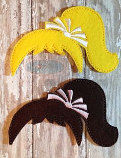 Pony Tail Add On Wig for Girl Felt Dress Up by SophiasKidKaboodle
