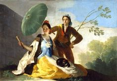 L'ombrelle, Francisco de GOYA : tableau de GRANDS PEINTRES et peinture de Goya