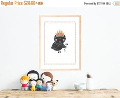 30% OFF and Free Shipping Boho Owl Wall Art Print 11x14 or 18x24, Kid's Room Decor, Woodland Animals, Children's Wall Art, Gender Neutral Nu