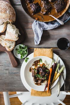 Red-Wine Braised Beef with Mushrooms and Mashed Potatoes from @themodernproper