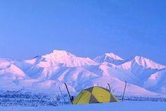 winter camping...those views!