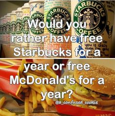Starbucks!!! Comment below what you would pick!