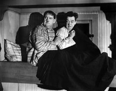 Laurel & Hardy in The Live Ghost (1934)