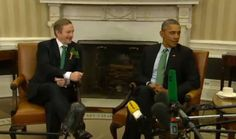 3-17-15Cringe! Obama snubs Ireland prime minister's handshake in mortifying moment. perhaps obama did not like the gift of aaaaa book of poetry by YEATS, yeats being white and all. perhaps Obama did not want to touch the hand of a white man