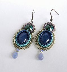 Here is collections of beautiful embroidered earrings from different talanted designers from all the world