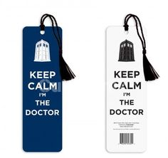 Doctor Who Keep Calm I'm the Doctor Tasseled Bookmark - BUY NOW #DoctorWho