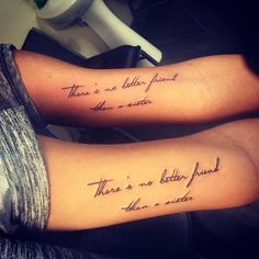 Sister Quote Arm Tattoos