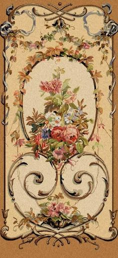 Jessica - Floral Wall Tapestry decoupage on a wardrobe door perhaps Vintage Labels, Vintage Cards, Vintage Paper, Arte Floral, Floral Wall, Motif Arabesque, Discount Area Rugs, Images Vintage, Decoupage Paper