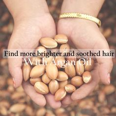 Find more brighter and soothed hair and scalp with Argan oil!