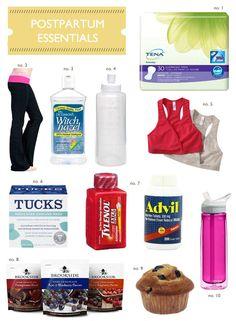Found on Hellobee.com! postpartum essentials