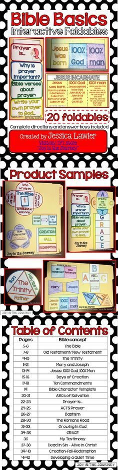 MEGA Bible Basics Interactive Notebook Foldables! 20+ foldables - perfect to enrich any Bible or Sunday School class. $5