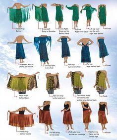 Sari Silk Wrap Skirts: Plus, Regular, Short, Little Girl and Maternity