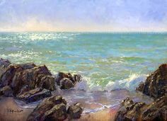 Sparkling Day at Caspersen by Tony DAmico Oil ~ 8 x 10
