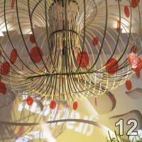 decoração em lascas de bambu