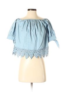 thredUP is the world's largest online thrift store where you can buy and sell high-quality secondhand clothes. Find your favorite brands at up to off. Short Sleeve Blouse, Short Sleeves, Online Thrift Store, Second Hand Clothes, Blue Shorts, Off Shoulder Blouse, Thrifting, Crochet, Stuff To Buy