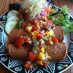 vegan raw vegan organic labels | Raw Vegan Enchiladas @ Chaco Canyon Organic Cafe | Noms