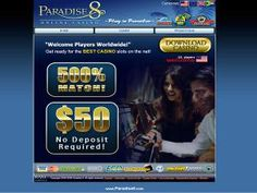 Paradise 8 Casino was established in 2005 and is powered by Rival. An excellent Exclusive Bonus is available thru the Gambling City Network of $20 No Deposit required plus an Exclusive Match Bonus of 500% to $500. For more details on Paradise 8 Casino visit Gambling City at http://www.gamblingcity.com/Casinos/Paradise-8-Casino
