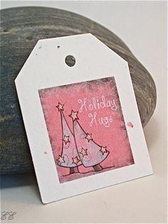Holiday Hugs Gift Tags, 24 Mini Tags, Ready to Ship
