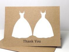 Items similar to Lesbian Wedding Thank You Cards, Gay Wedding, Same Sex Wedding Thank You Card Set, Wedding Gown Cards, LGBT Wedding on Etsy Wedding Trends, Diy Wedding, Wedding Bells, Wedding Stuff, Wedding Ideas, Lesbian Wedding, Lesbian Pride, Phuket Wedding, When I Get Married