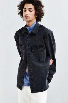 UO Heavyweight Denim Over Shirt - Urban Outfitters