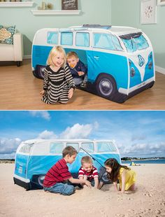 VW Volkswagen T1 C&er Van Kids Pop-Up Play Tent - Blue | I want | Pinterest | Kids pop Vans kids and Vw volkswagen : volkswagen play tent - memphite.com