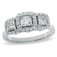 The ring I picked out.. 1-1/4 CT. Princess Cut 3 stone Celebration Diamond