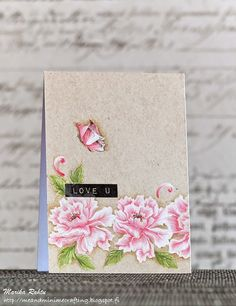Lacy Scrolls, Label Love and , Painted Butterflies, sentiments: embossed w/ Clear Matt Dull embossing power flowers w/ white pigment ink, coloured with Derwent Coloursoft Pencils or Faber-Castell Polychromos Color Pencils (greens) , Me and Minime crafting: