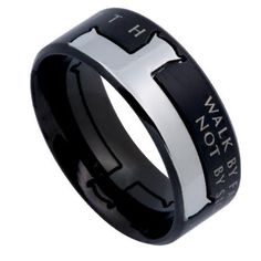 - Christian: Half Cross Ring with Bible Verse on either side. Simple and stylish way to show your Faith! Based on 2 Corinthians. Bible Verse: FAITH Bible Inspiration: WALK BY FAITH, NOT BY SIGHT - 2 C