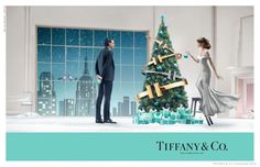 Tiffany's Christmas Charm--If you are not excited for the holiday season just yet, take a look at the Christmas 2014 advertising campaign from Tiffany & Co