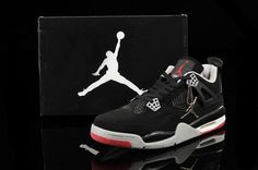 88.97 Air Jordan 4 Retro White Iv Big Size Mens Shoes Grey Black Red  9de9c9791e9