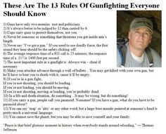 13 rules of a gun fight