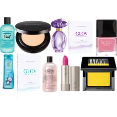 """""""set of 10 cosmetics"""" by glov-hydro on Polyvore"""