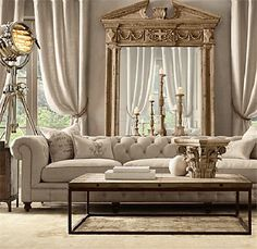 46 Stunning Comfy Living Room Decor Ideas For Any Home Design Restoration Hardware Living Room, Mirror Restoration, Casa Magnolia, Restauration Hardware, Living Room Furniture, Living Room Decor, Decoration Inspiration, Decor Ideas, Room Inspiration