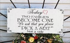 No Seating plan sign Wedding Sign 20x9 ceremony or reception sign FREE set MR MRS champagne tags