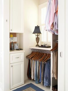 Learn how to maximize the tiny slivers of space in your home with clever storage ideas for your kitchen, bathroom, closets, and more.