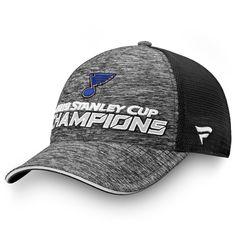 8e5f9678c Men's St. Louis Blues Fanatics Branded Gray/Black 2019 Stanley Cup Champions  Locker Room