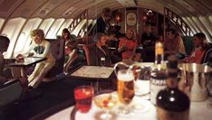 The Fabulous Bars & Restaurants of the Boeing 747: Amazing Vintage Photos Show the Glamorous Airline Lounges in the Sky From the 1970s ~ vintage everyday