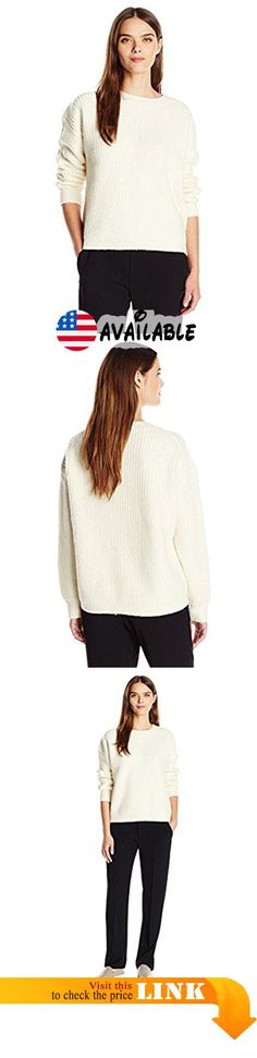 B01KCQRYV4 : Vince Women's Half Cardigan Crew Winter White XS. Directional ribbing. Clean slightly high-low hem. Extended sleeves. Lush hand. Fabric imported from Italy #Apparel #SWEATER
