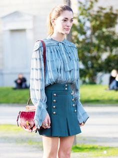 Style your blouse or tee like a fashion girl! via @WhoWhatWear