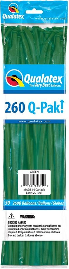 Qualatex Pearl White 260q Latex Modelling Balloons Pack of 25