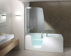 Handicapper tubs bathtubs for the elderly and disabled for Big and tall walk in tubs