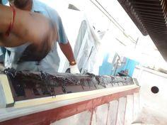 #Moglice Slideway coating of V- and Flat ways #BlanchardGrinder #LowFriction #BuildFast #RepairFast