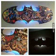 My sister made this for her boyfriend. Batman is his favorite superhero.