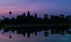 Temple of Angkor Wat at Sunrise The beautiful, iconic Temple of Angkor Wat ~ sunrise just after 5:30am in front of the Reflection Pool ~ Susan Crichton-Stuart