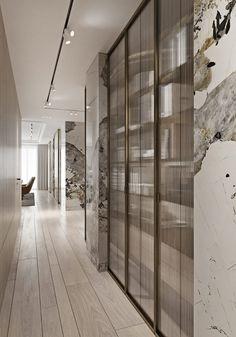 Magnificent Modern Marble Interior With Metallic Accents - Decorasium Best Interior, Home Interior Design, Modern Interior, Interior Architecture, Modern Decor, Style At Home, Small Luxury Bathrooms, Modern White Living Room, Bedroom Modern