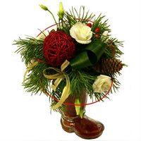 Оформление праздничное новогоднее от салона цветов