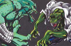 Killer Croc VS The Lizard by Jonou on DeviantArt